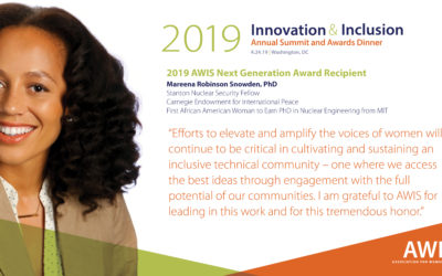 AWIS Announces its 2019 Innovation and Inclusion Summit and Awards Dinner
