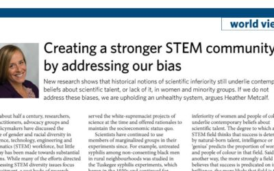Creating a stronger STEM community by addressing our bias
