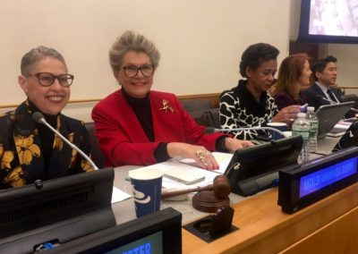 Dr. Susan Windham-Bannister joins moderator Her Excellency, Ambassador of Hungary to the UN, Katalin Anna-mária Bogyay.