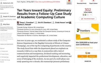 Ten Years Toward Equity: Preliminary Results from a Follow-Up Case Study of Academic Computing Culture